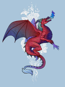 Rose Galaxy Dragon