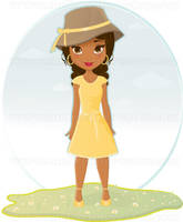African American girl by Melisendevector