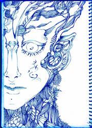 blue man by catcatmycat