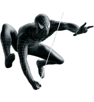 Spider-Man 3 Black Suit PNG by Metropolis-Hero1125