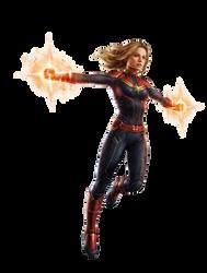 Avengers Endgame Captain Marvel PNG by Metropolis-Hero1125