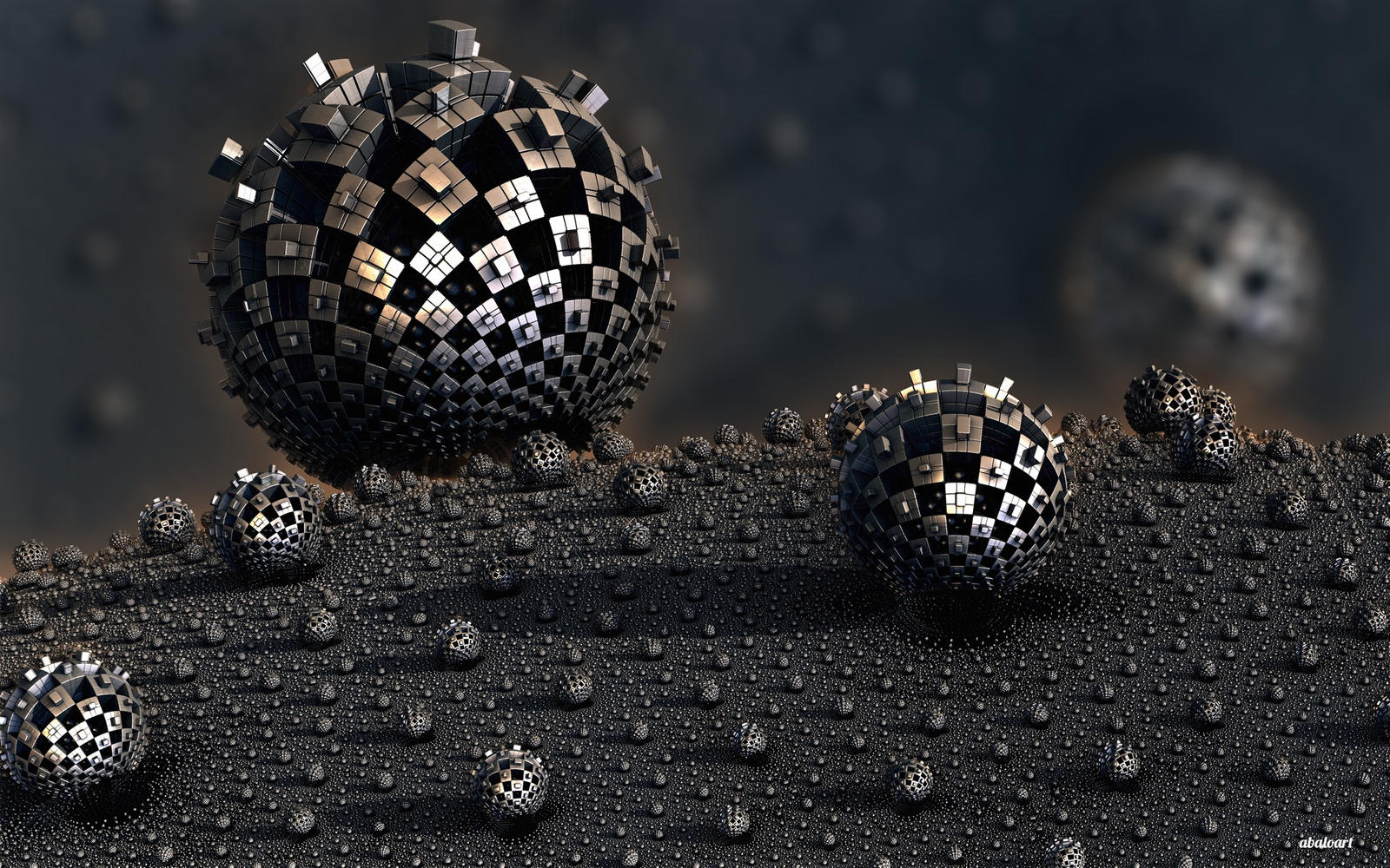 Mechanical Spheres by batjorge