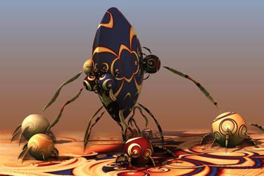 Aliens Love Their Children Too by batjorge