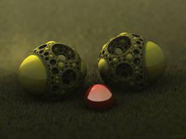 Alien Acorns - Pong 236 by batjorge