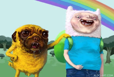 Adventure Time - Jake and Finn by AldoK