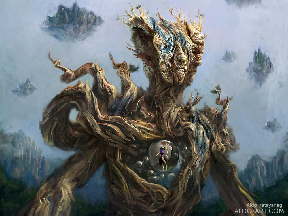 Wood Golem by AldoK