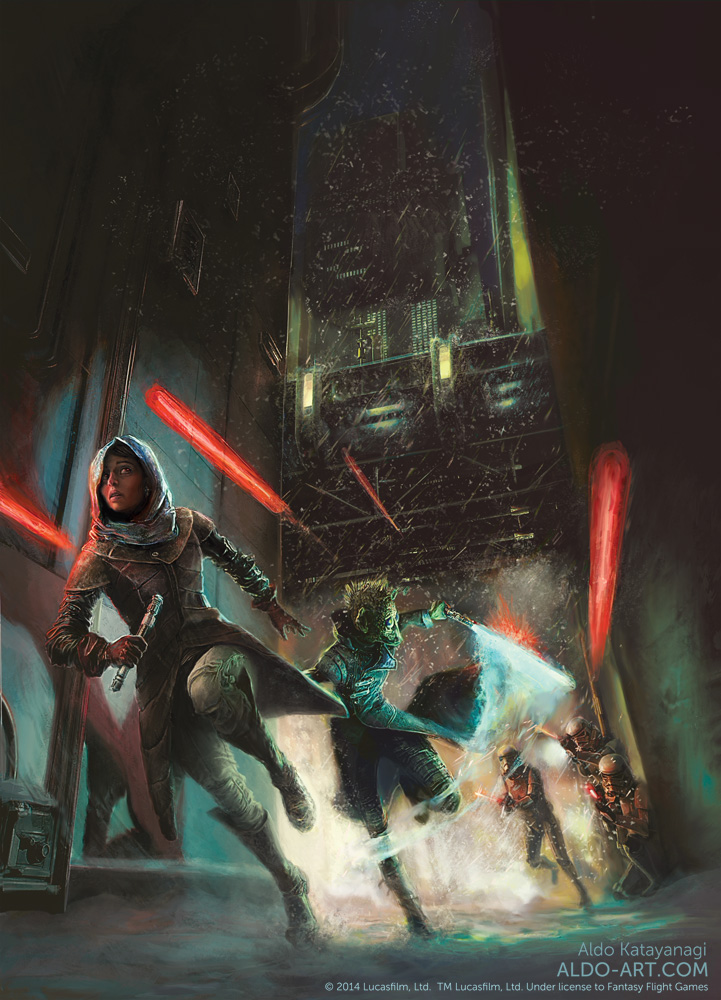 Star Wars rulebook illustration by AldoK