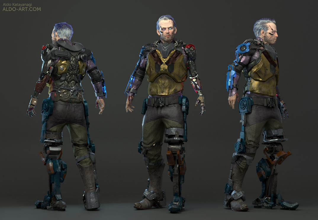 Harmontown Shadowrun - Jim Nightblade character by AldoK