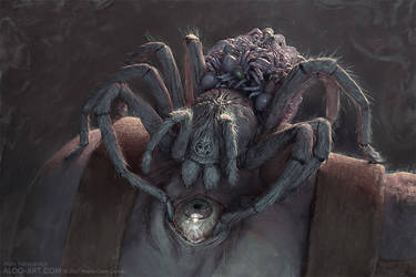 Monte Cook Games Invisible Sun - Harvesting Spider by AldoK