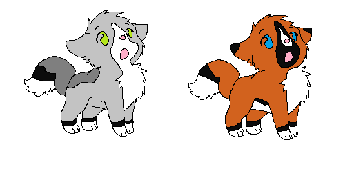 Wolf Pup Adoptables by Animalfreak11