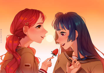 [FA] Riko and Yoshiko- LoveLive! by mintfunct1on