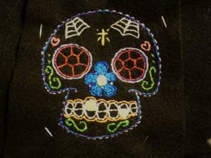 embroidered sugar skull1