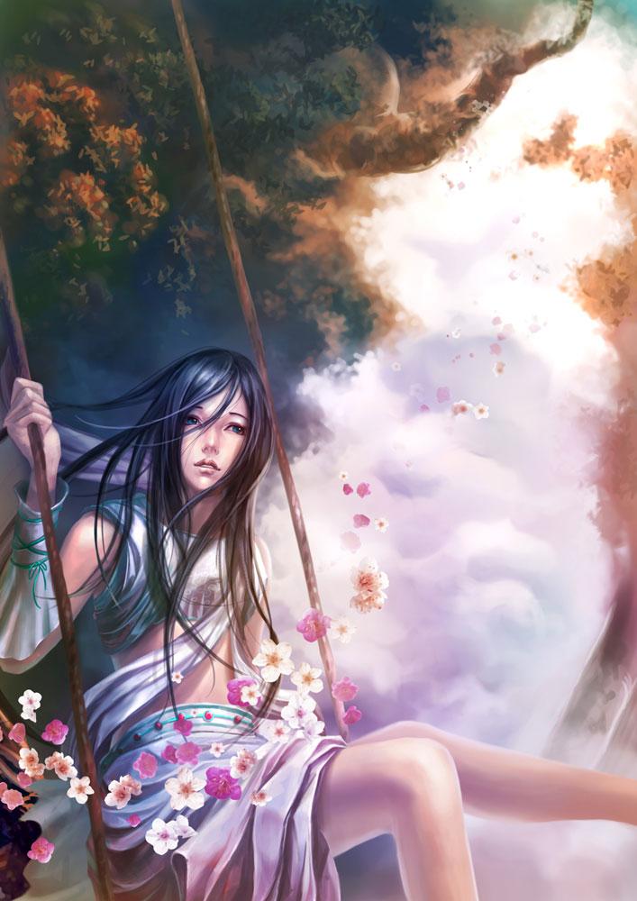 Falling petals by Eggar919