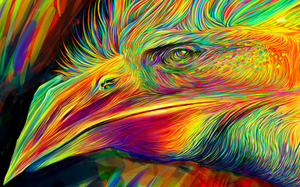 Colorful Flight - (Work in progress) by CaymArtworks