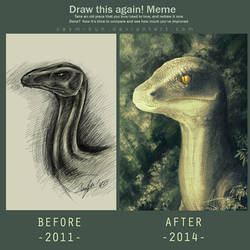 Draw This Again - Velociraptor by CaymArtworks