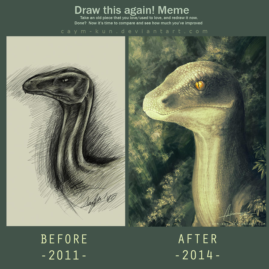 draw_this_again___velociraptor_by_caym_kun d70mq02 draw this again velociraptor by caymartworks on deviantart