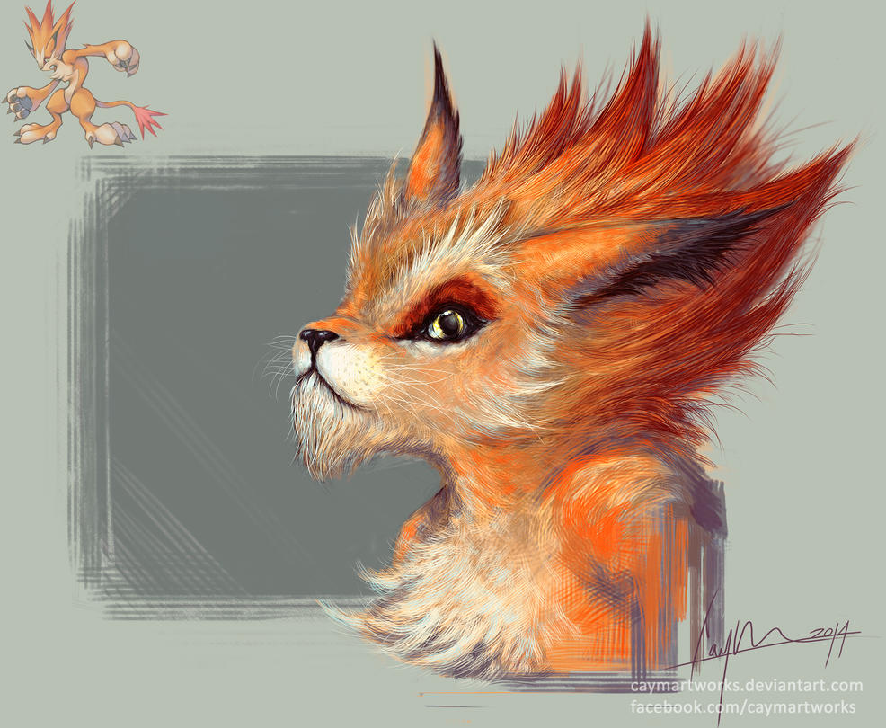 Final Fantasy VIII - Moomba realistic detail by CaymArtworks