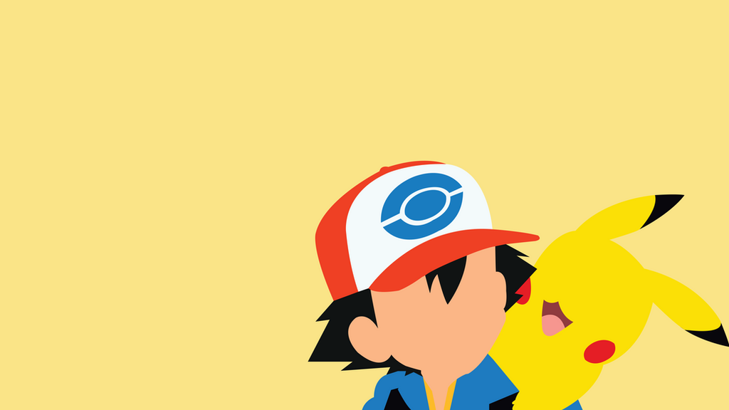 Ash and pikachu minimalist by pikachuisuber on deviantart - Ash and pikachu wallpaper ...