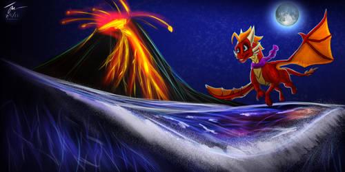 Birthday Art - Blaze-TFD - Night Flight by HopsWatch92