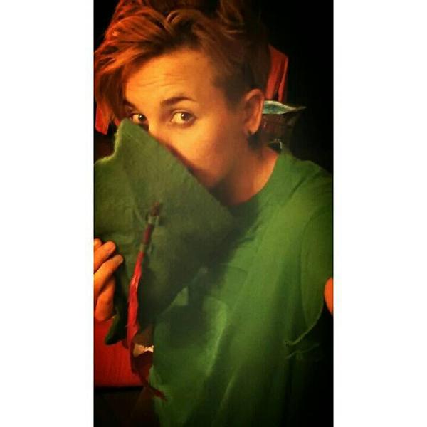 peter pan imitating hooks voice