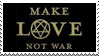 Make Love Not War stamp by lonesomeaesthetic