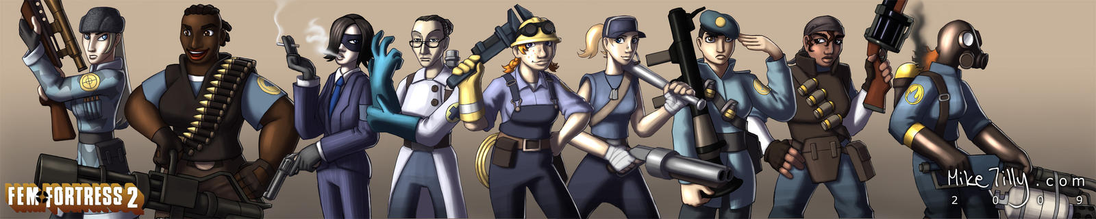 Fem Fortress 2 by HertzaHaeon