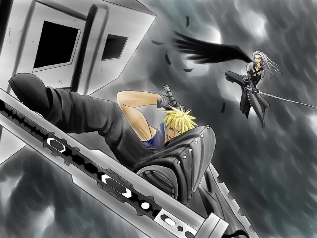 Final Fantasy Cloud Vs Sephiroth  Final Fantasy C...