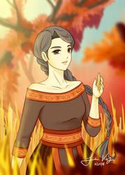 Autumn goddess (Traditional Hmong 2018)