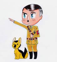 Chibi Hitler with Blondi by R7artist