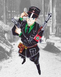 Arrow Cross officer by R7artist