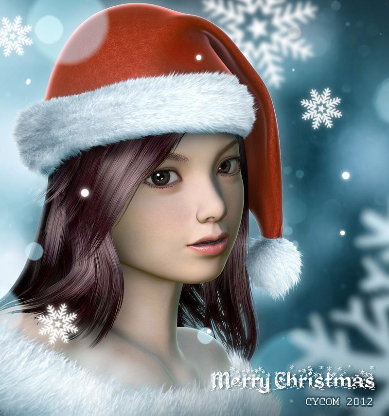 Santa Girl by CYCOMarts