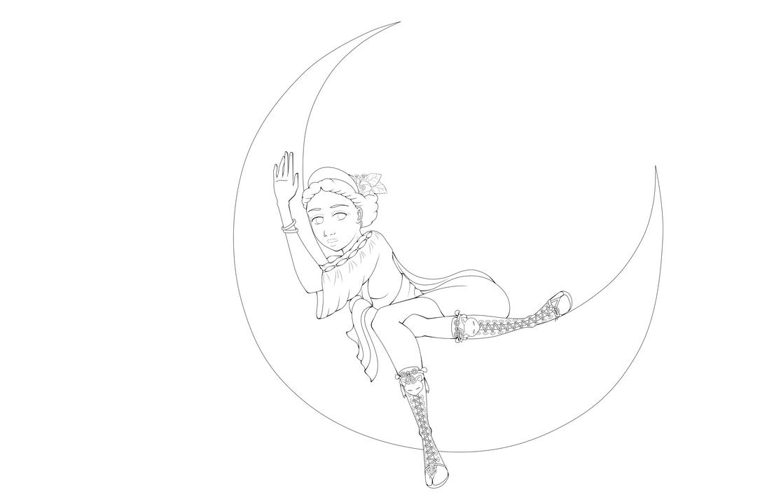 Famous Line Of Artemis : Artemis line art by drawtaru on deviantart