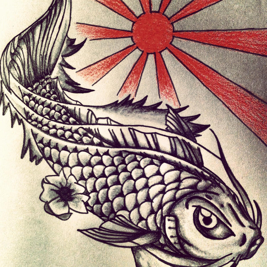 Koi in the sun by Noodough