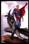 Superman Batman by Adi Granov