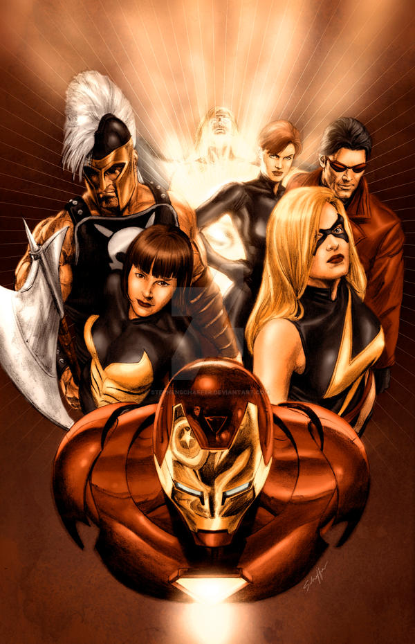 Mighty Avengers by Alex Ross by StephenSchaffer