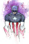 Captain America - Watercolor