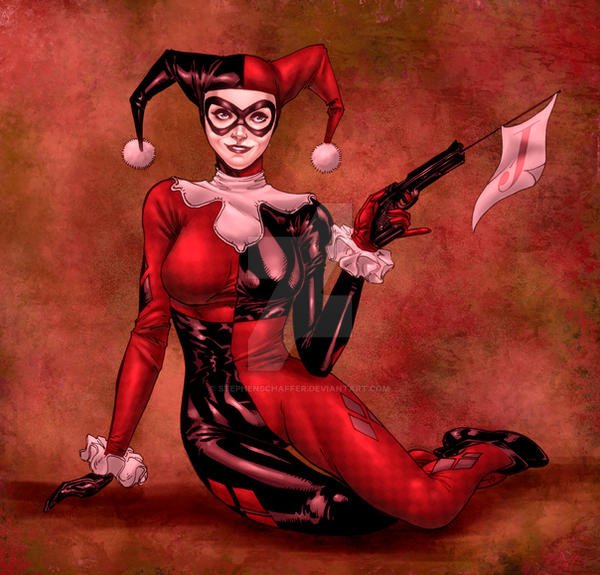 Harley Quinn by SpiderGuile by StephenSchaffer