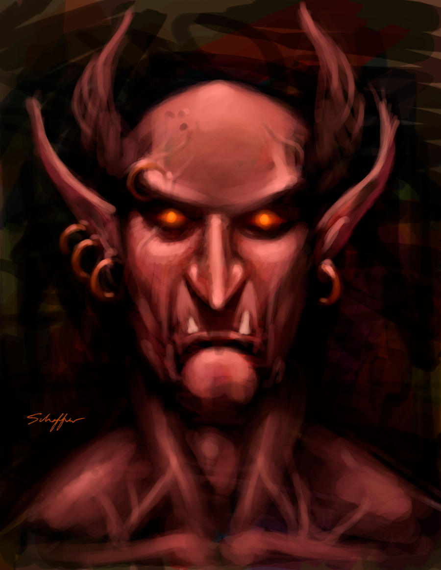 Demon Speedpaint by StephenSchaffer