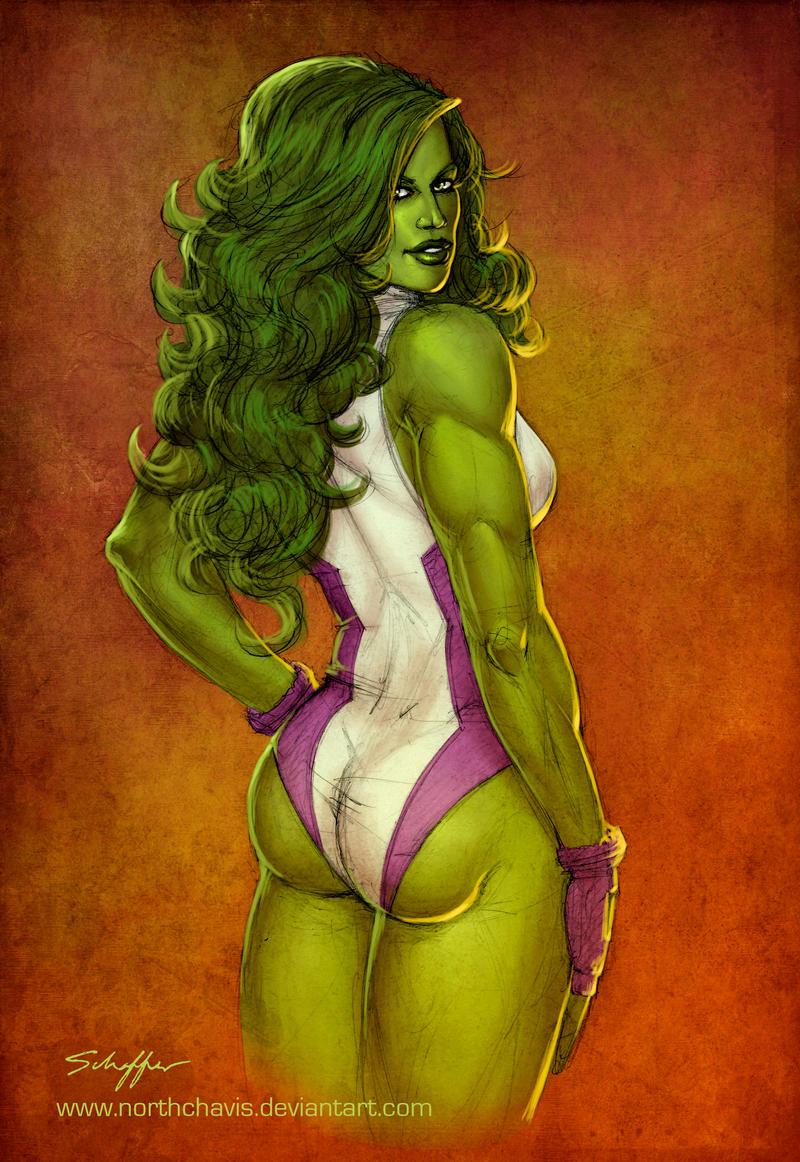 She Hulk By Stephenschaffer