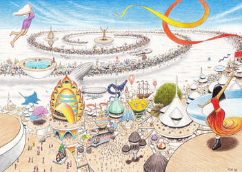 Burning Man in the Sky Festival 2115