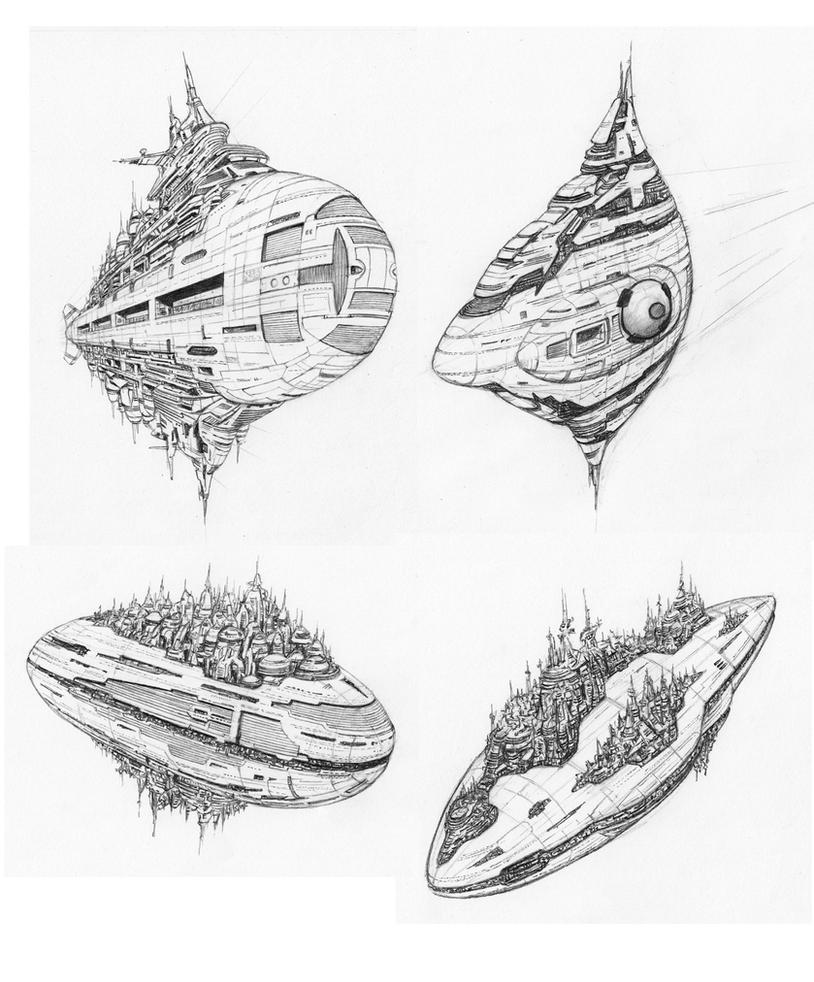 22nd Century Star Cruise Liner Concepts by JamesF63