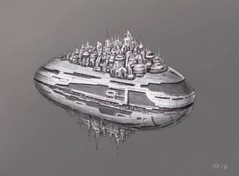 Starship Cruise Liner Nassim Haramein by JamesF63