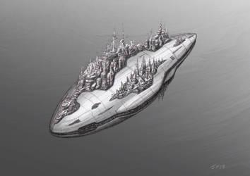 Starship Cruise Liner The GSV Iain Banks by JamesF63