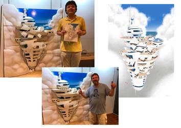 SkyHub Giant 3D Printed Model by JamesF63