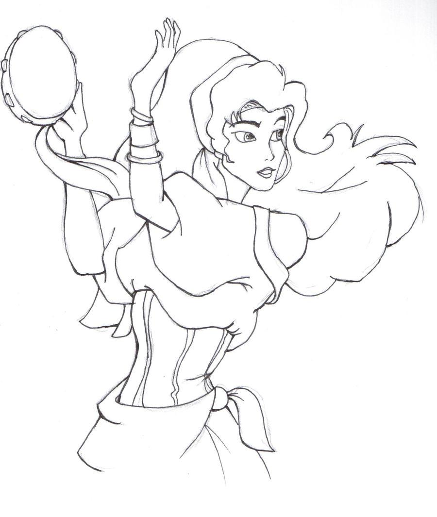esmeralda drawing Gallery