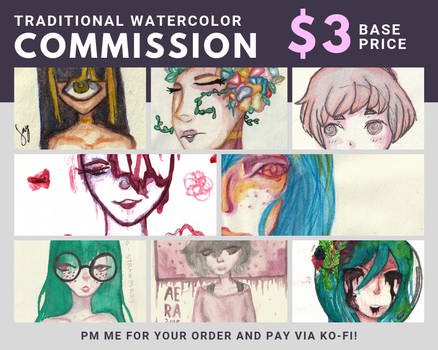 Traditional Watercolor Commissions