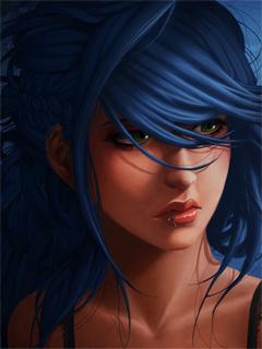 Sad in Blue 240x320 by SamuraimileR