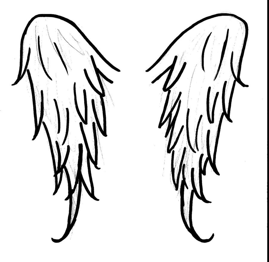 Angel wings by midsummerdawn on deviantart for Coloring pages of wings