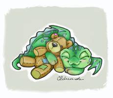 Sleeping Baby Dragon doodle