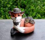Dapper Steampunk Fox Sculpture
